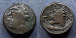 Ancient Coins - Cimmerian Bosporos, Pantipakion 310-304 BC, AE18