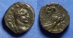 Ancient Coins - Roman Egypt, Claudius II Gothicus 268-270, Potin Tetradrachm