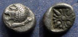 Ancient Coins - Ionia, Miletos Circa 500 BC, Diobol
