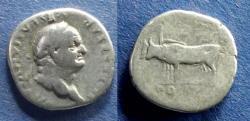 Ancient Coins - Roman Empire, Vespasian 69-79, Denarius