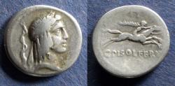 Ancient Coins - Roman Republic, C Piso Lf Frugi 67 BC, Denarius