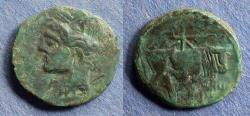 Ancient Coins - Carthage, Sardinian mint 220-215 BC, AE18