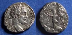Ancient Coins - Roman Empire, Septimius Severus 193-211, Silver Denarius
