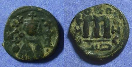 Ancient Coins - Arab Byantine follis of  Umayyad Caliph Abd al-Malik (685-705) Emesa mint