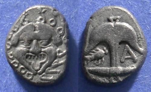 Ancient Coins - Apollonia Pontika, Thrace 350-300 BC, Drachm