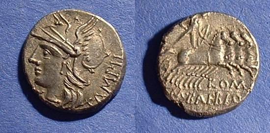 Ancient Coins - Roman Republic - Baebia 12 Denarius Circa 137 BC
