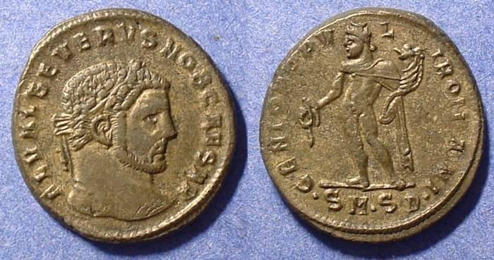 Ancient Coins - Severus II (as Caesar) 305-6AD  Follis