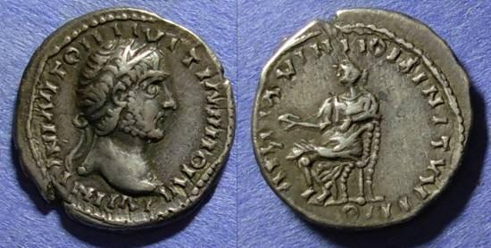 Ancient Coins - Roman Emp - Eastern imitation, Antoninus Pius 138-161, Denarius