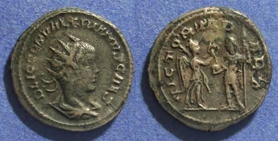 Ancient Coins - Roman Empire, Valerian II 253-260 AD, Antoninianus