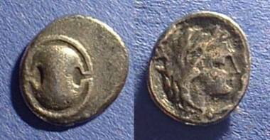 Ancient Coins - Boeotia - Thebes  Obol 379-321 BC