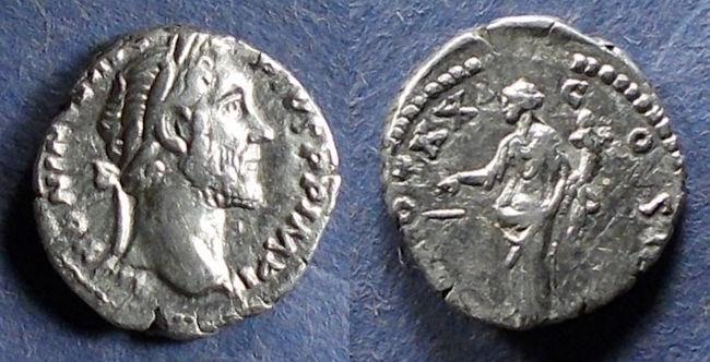Ancient Coins - Roman Empire, Antoninus Pius 138-161, Denarius