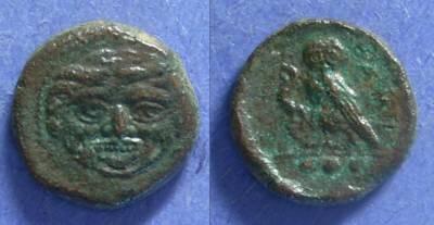 Ancient Coins - Kamarina, Sicily 420-405 BC, Tetras