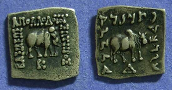 Ancient Coins - Bactrian Kingdom, Apollodotus 174-165BC – Drachm