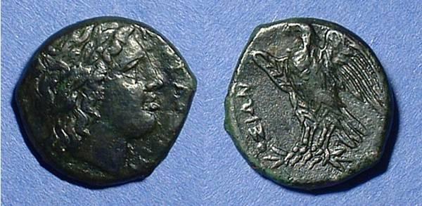 Ancient Coins - Syracuse Sicily AE20  Hiketas 288-279 BC