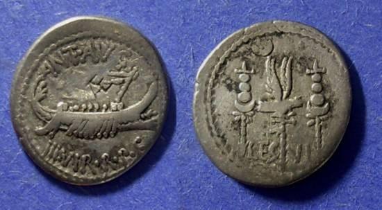 Ancient Coins - Rome Marc Antony Struck 31-30 BC Denarius Legion VI