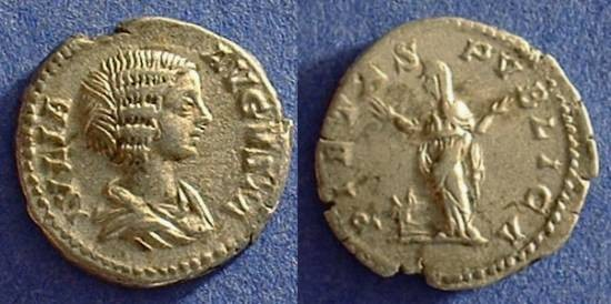 Ancient Coins - Julia Domna (wife of S. Severus) 193-217AD Denarius
