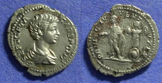 Ancient Coins - Geta (as Caesar) 198-208AD Denarius
