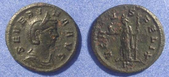 Ancient Coins - Severina (Wife of Aurelian 270-5) Denarius (Better than image)