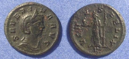 Ancient Coins - Severina (Wife of Aurelian 270-5) Denarius (Better than image)