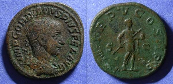 Ancient Coins - Roman Empire, Gordian III 238--244, Sestertius