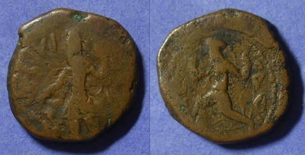 Ancient Coins - Kushan Kanishka I Circa 140 AD Tetradrachm