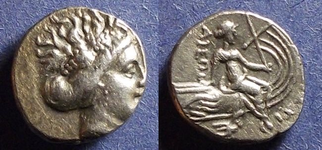 Ancient Coins - Histiaea, Euboea Circa 340 BC, Tetrobol