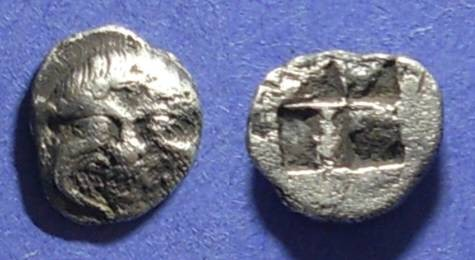 Ancient Coins - Macedonia, Neapolis 500-480 BC, Obol