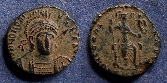 Ancient Coins - Roman Empire, Honorius 393-423, AE3