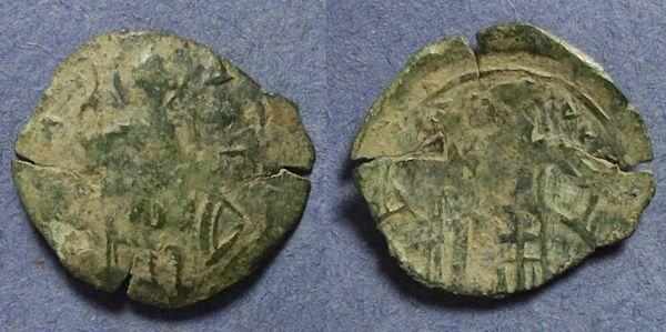 Ancient Coins - Byzantine Empire, Andronicus II, Trachy, Thessalonika mint 1282-1328
