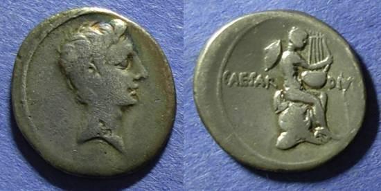 Ancient Coins - Roman Imperatorial, Octavian 3.74g, Denarius