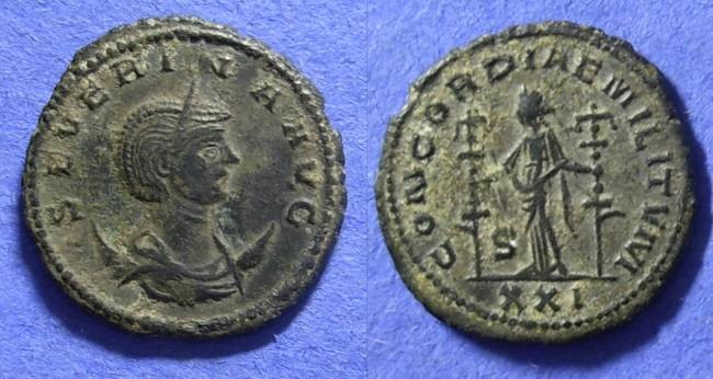 Ancient Coins - Severina (Wife of Aurelian) 270-5 Antoninianus
