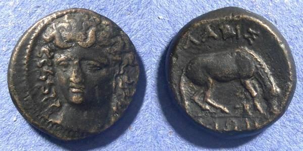 Ancient Coins - Thessaly, Larissa 380-337 BC, Dichalkon