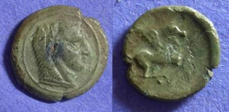 Ancient Coins - Sicilo-Punic  AE14   - Circa 350BC