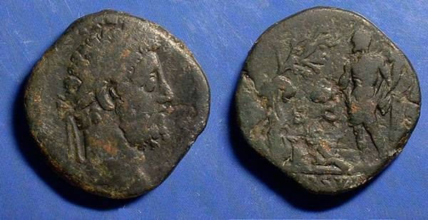 Ancient Coins - Commodus 177-192 AD -Sestertius with Hercules reverse