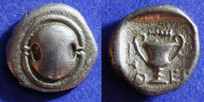 Ancient Coins - Thebes Boeotia - Hemidrachm 425-375 BC