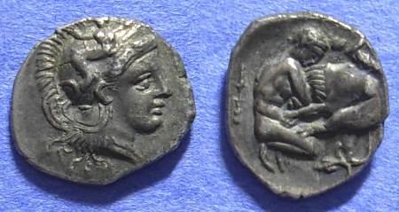 Ancient Coins - Taras Calabria - Diobol Circa  302-228BC - Choice!