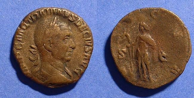 Ancient Coins - Trajan Decius 249-251 Sestertius with DACIA reverse