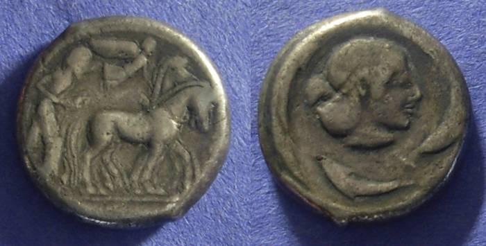 Ancient Coins - Syracuse Sicily – Tetradrachm Circa 478 - 472BC