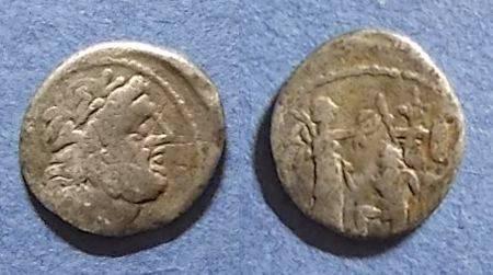 Ancient Coins - Roman Republic, C Fundanius 101 BC, Quinarius