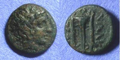 Ancient Coins - Chalcidian league - Olynthos Macedonia AE13 – 392-379BC