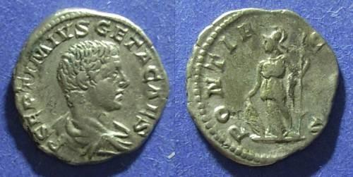 Ancient Coins - Roman Empire, Geta (as Caesar) 198-208, Denarius