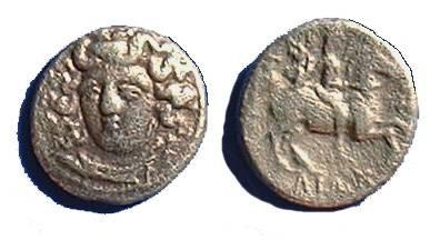 Ancient Coins - Larissa Thessaly - Trihemiobol - 344-321 BC