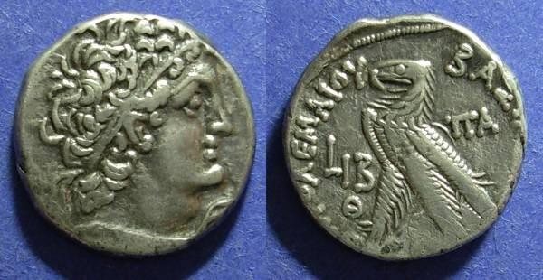 Ancient Coins - Egypt, Ptolemy X & Cleopatra III 107-101 BC, Tetradrachm