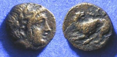 Ancient Coins - Nesos - Island between Lesbos and Mysia - AE9 350-300 BC