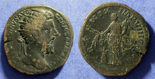 Ancient Coins - Marcus Aurelius - 161-180AD Dupondus