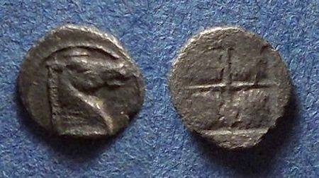 Ancient Coins - Thraco-Macedonian, Uncertain Circa 400 BC, Tetartemorion