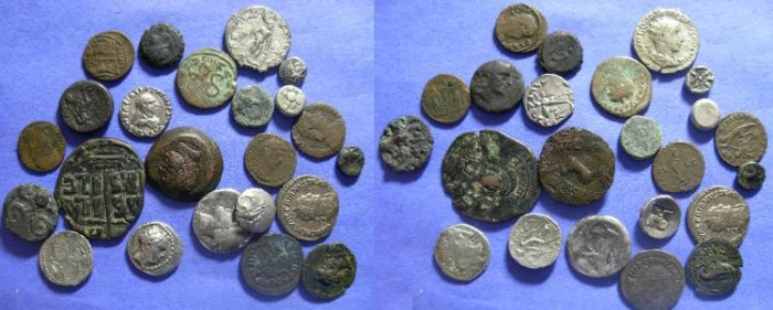 Ancient Coins - Ancient misc. lot of 19 coins - mostly Greek