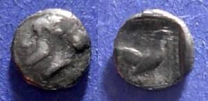 Ancient Coins - Methymna, Lesbos Circa 400 BC, Hemiobol