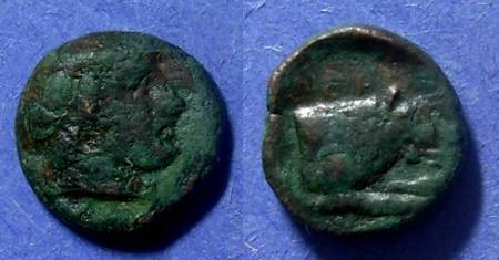 Ancient Coins - Macedonian Kingdom, Aeropos 396-392 BC, AE13
