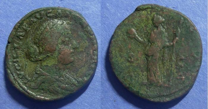 Ancient Coins - Roman Empire, Lucilla 164-182 AD, Sestertius